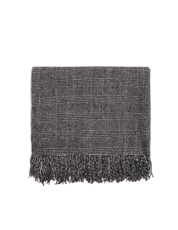 Undercover Wool Scarf - Black/White Check
