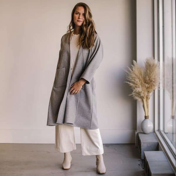 Rachel Craven Wool Parker Coat - Heather Grey