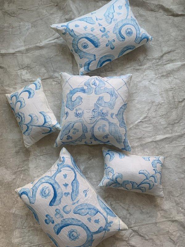 Cuttalossa & Co. Hand Painted Linen Series Pillow - Madonna