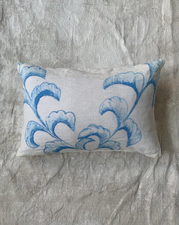 Cuttalossa & Co. Hand Painted Linen Series Lumbar Pillow - Leaves II