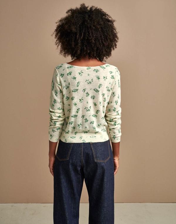 Bellerose Daruy Floral Sweater - Natural