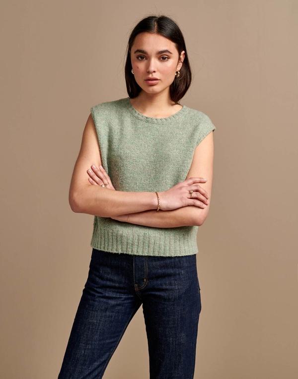 Bellerose Gywo Sleeveless Knit Top - Minty Grey