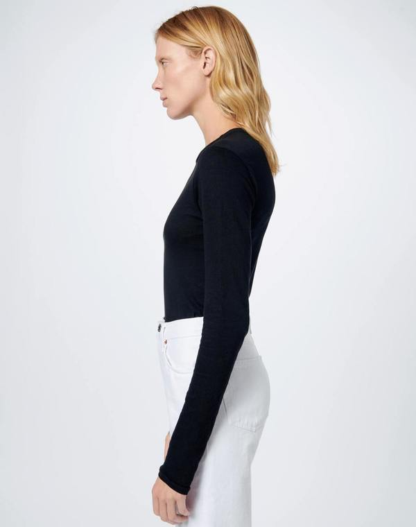 RE/DONE 60s Long Sleeve Bodysuit - Black