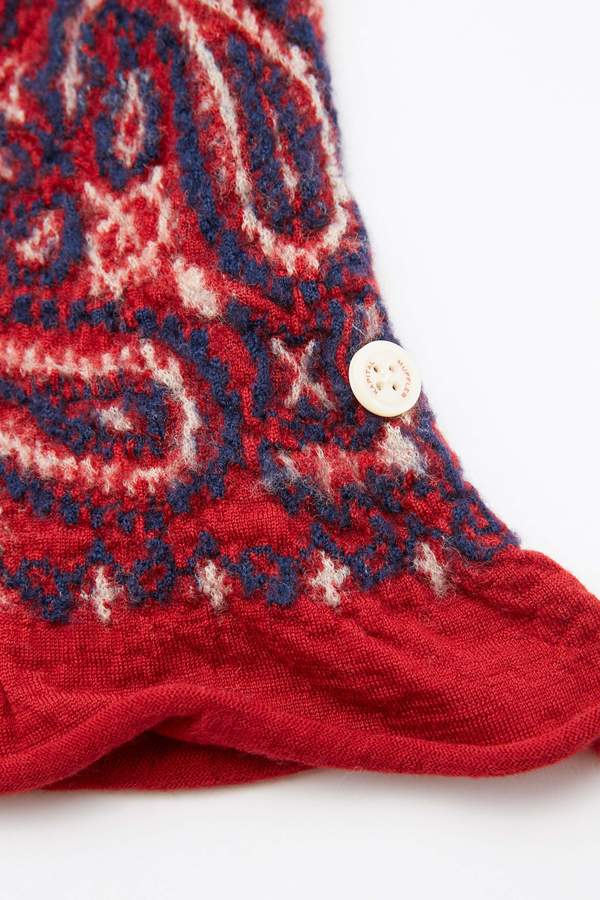 unisex Kapital Compressed Wool Scarf COSMIC STAR - Red
