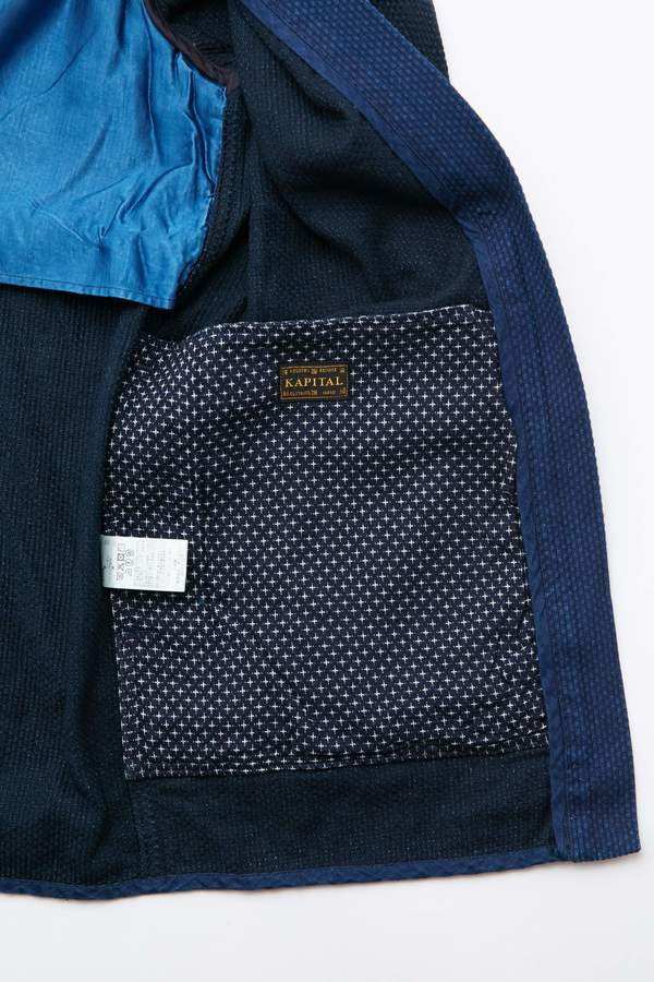 Kapital Kountry IDG DO-GI Canvas SHA-KA Jacket (BONE) - Indigo