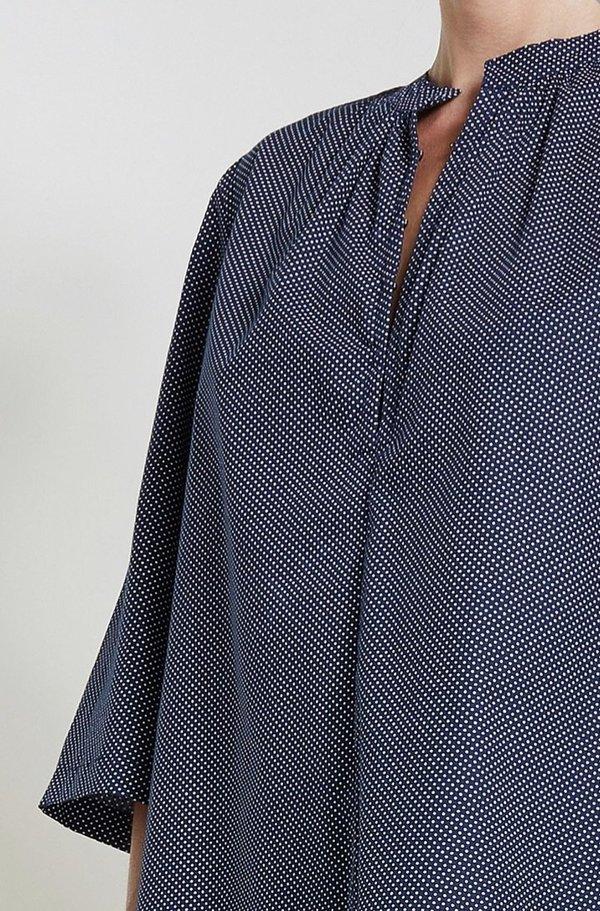 Apiece Apart Shirred Agata Top - Polka Dot