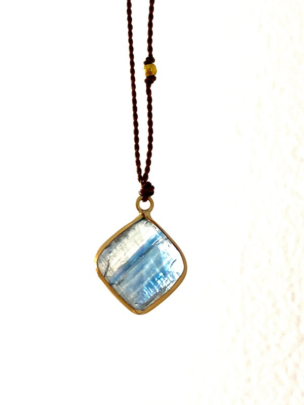 Margaret Solow Kyanite Pendant Necklace - 14K Yellow Gold