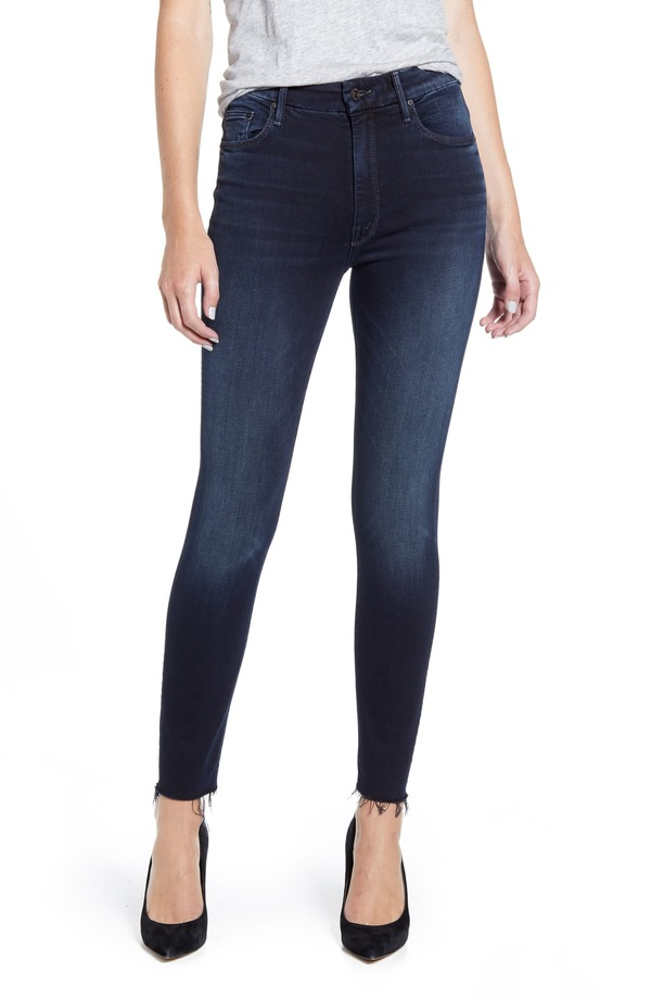 Mother High Waisted Looker Ankle Fray Jeans - Last Call