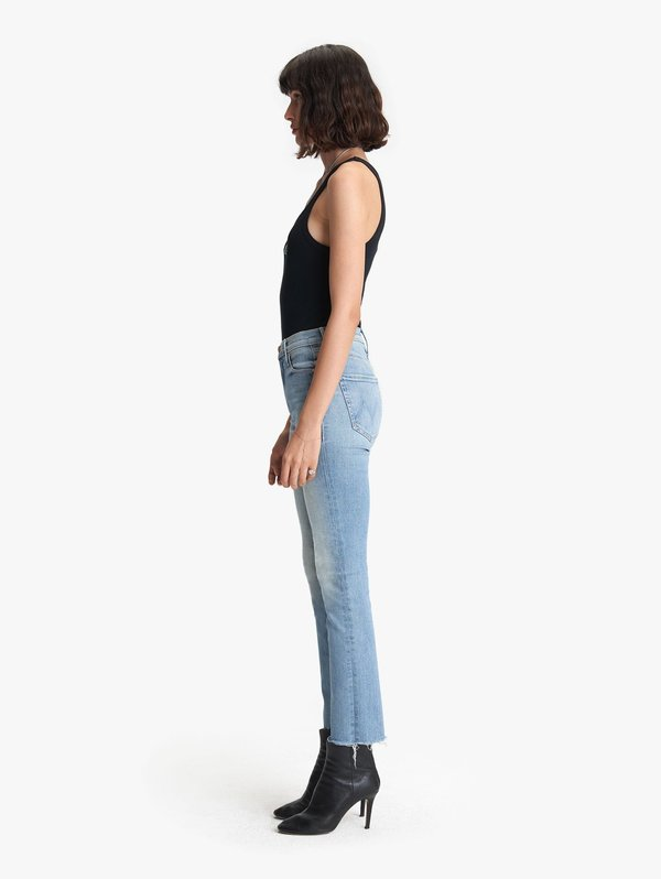 Mother The Mid Rise Dazzler Ankle Fray Jeans - Jackpot