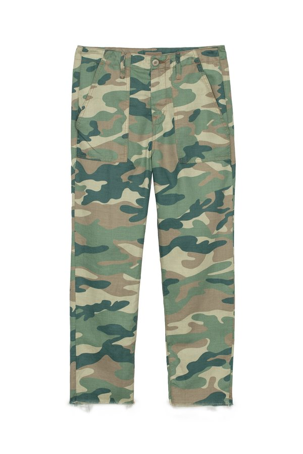 Mother The Shaker Chop Crop - Blue Green Camo