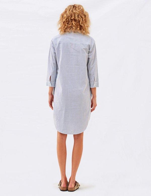 Sundry Pin Stripe Dress Shirt - Natural