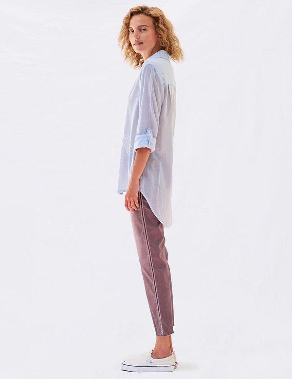 Sundry Stars Embroidered Oversize Shirt - Mist