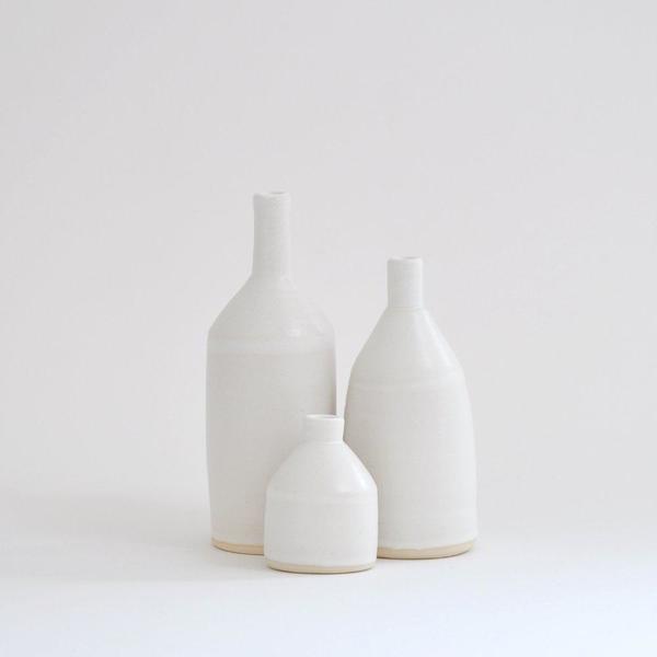 They Named Her John Bottle Vase - White