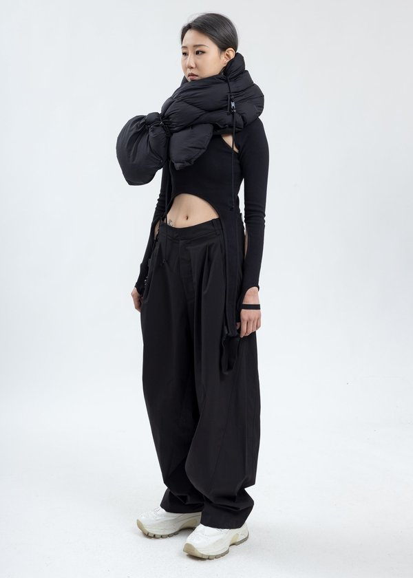 Hyein Seo Gaiter Vest - Black