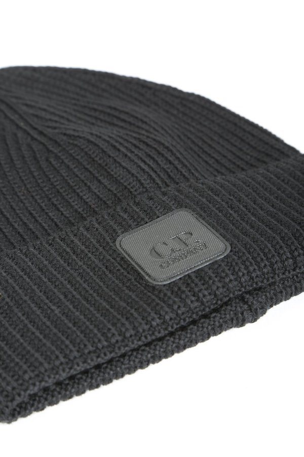 C.P. Company KNIT CAP - BLACK