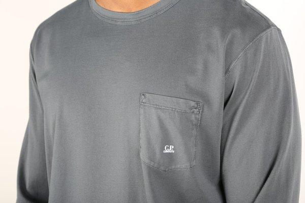 C.P. Company LONG SLEEVE TEE - dark fog grey