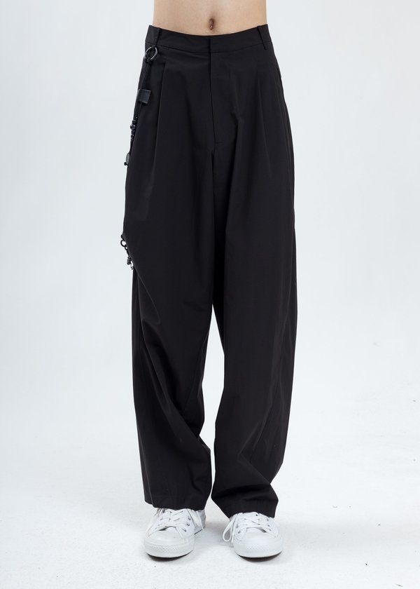 Hyein Seo Chained Wide Pants - Black