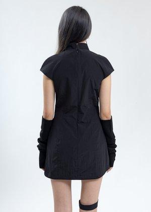 Hyein Seo Qipao With Sleeves - Black