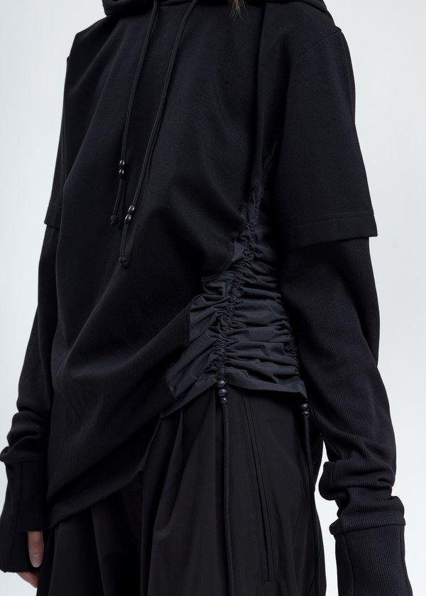 Hyein Seo Twisted Hoodie - Black