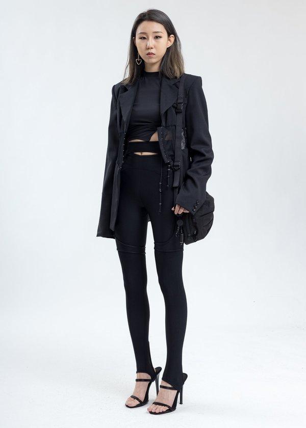 Hyein Seo Twisted Long Sleeve - Black