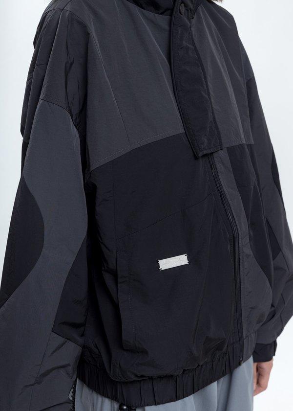 UNISEX C2H4 Intervein Paneled Track Jacket - Dark Grey
