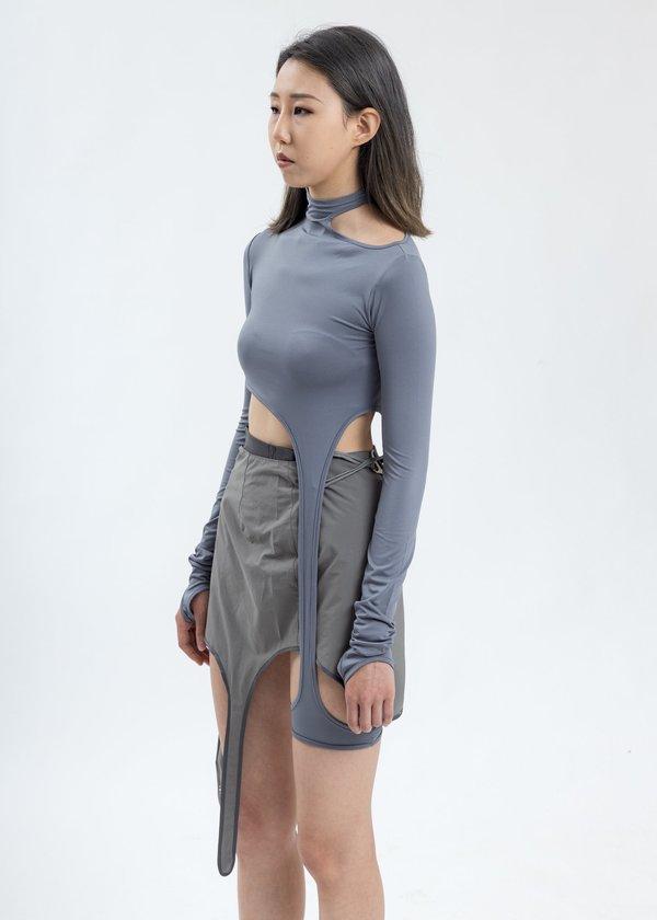 Hyein Seo Long Sleeve With Corset - Grey
