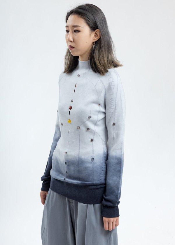 Feng Chen Wang Merino Wool Slim Fit Sweater - White