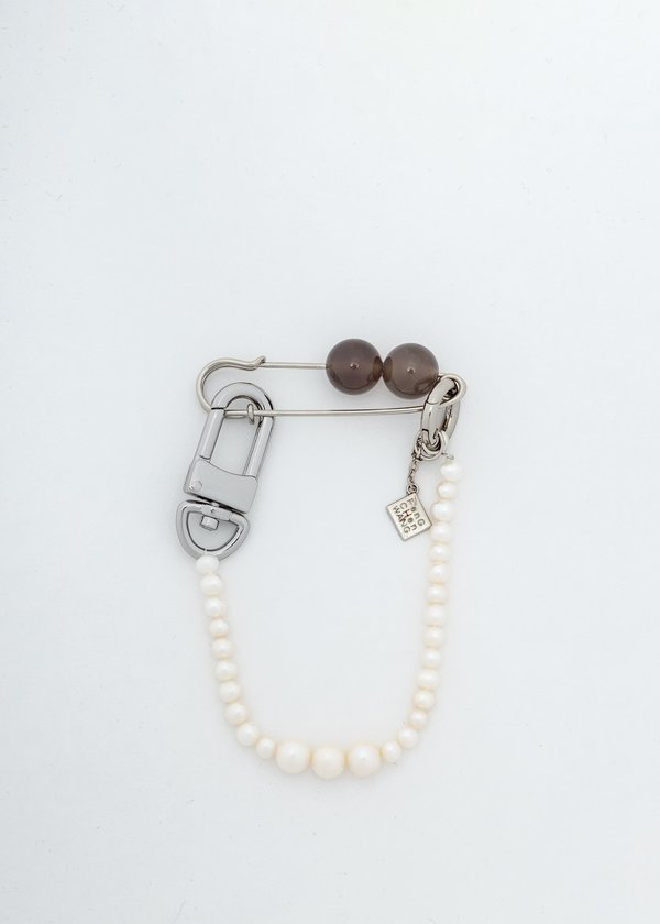 Feng Chen Wang White Pearl Brooch