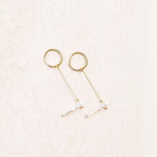 Punkwasp Minimalist Fresh Water Pearl Earrings