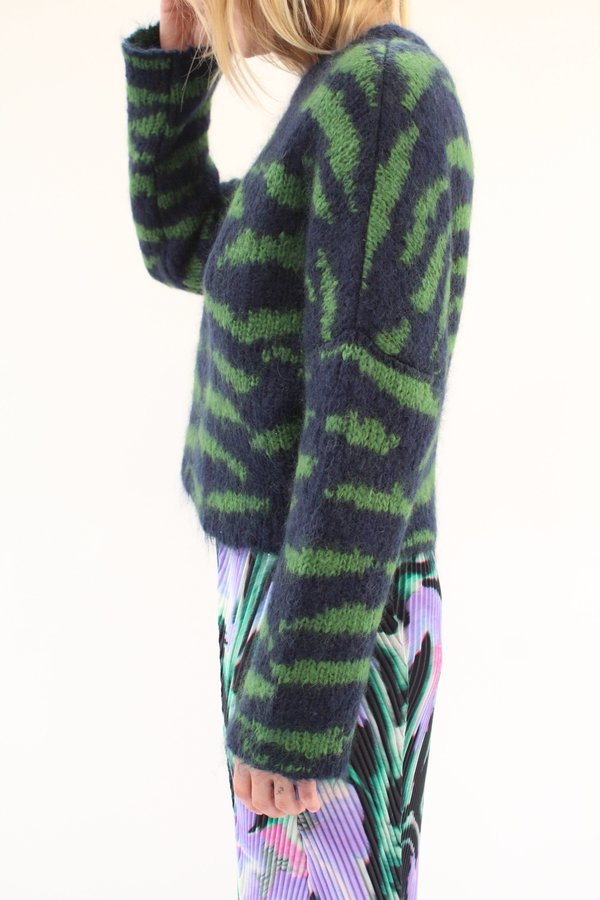 Julia Heuer Barney Knit Pullover - navy/green