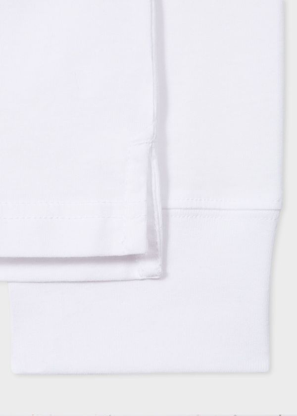 Paul Smith Reg Fit Long Sleeve T Shirt with Zebra - White