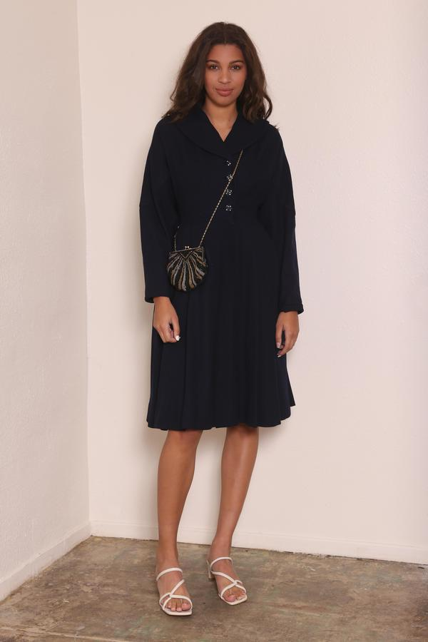 """""""INTENTIONALLY __________."""" VINTAGE FROCK COAT - NAVY"""