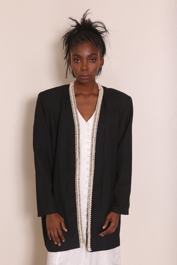 """INTENTIONALLY __________."" PEARL LINED JACKET"