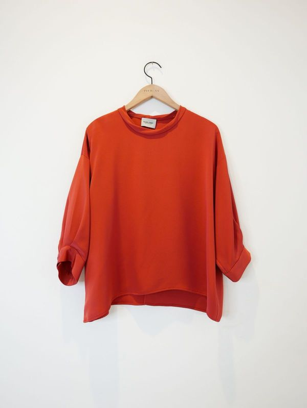 Rachel Comey Fond Blouse - Tomato Red