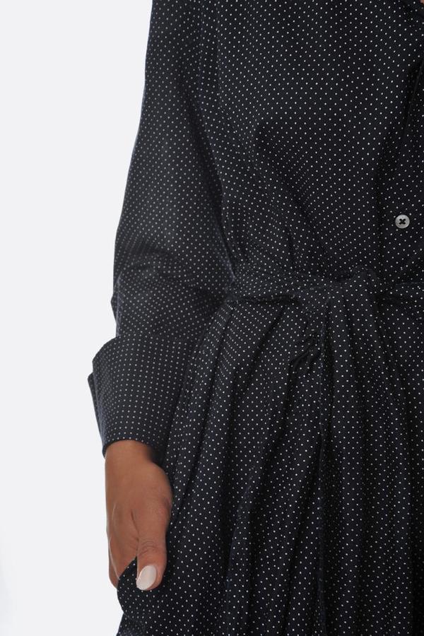 Pipsqueak Chapeau Mini Dot Bell Dress - Navy/White