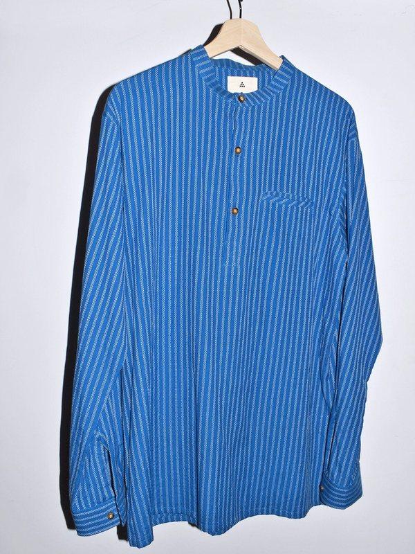 Unisex New Market Goods Pani Long Sleeve Popover Shirt - Blue