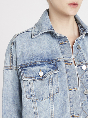 Camilla and Marc Harwood Jacket - Mid Denim