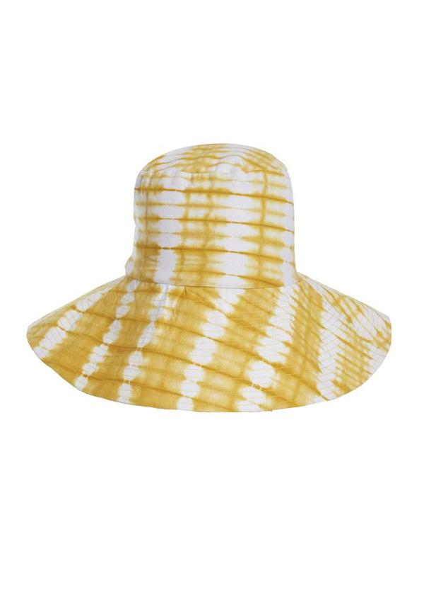 Studio One Eighty Nine  Ayumi Cotton Hand Batik Large Hat - Yellow