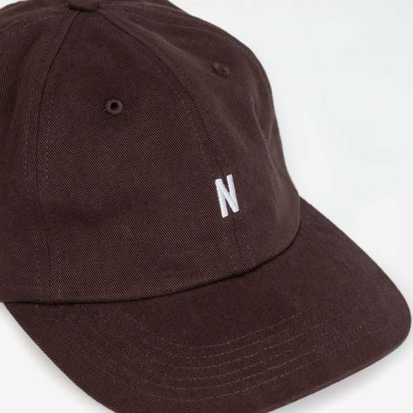 Norse Projects Twill Sports Cap - Eggplant Brown
