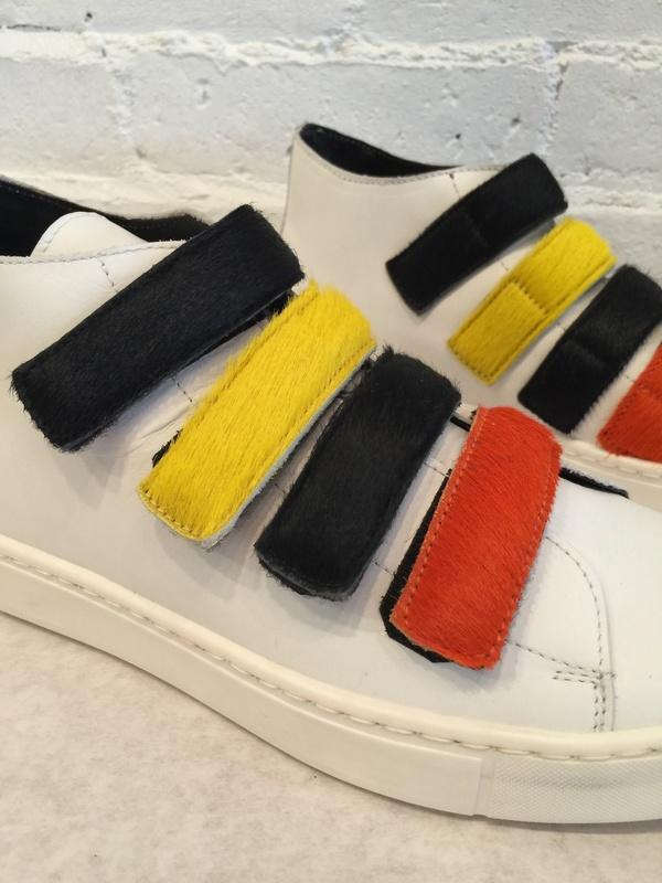 Collection Privee Velcro Pony Hair Sneakers