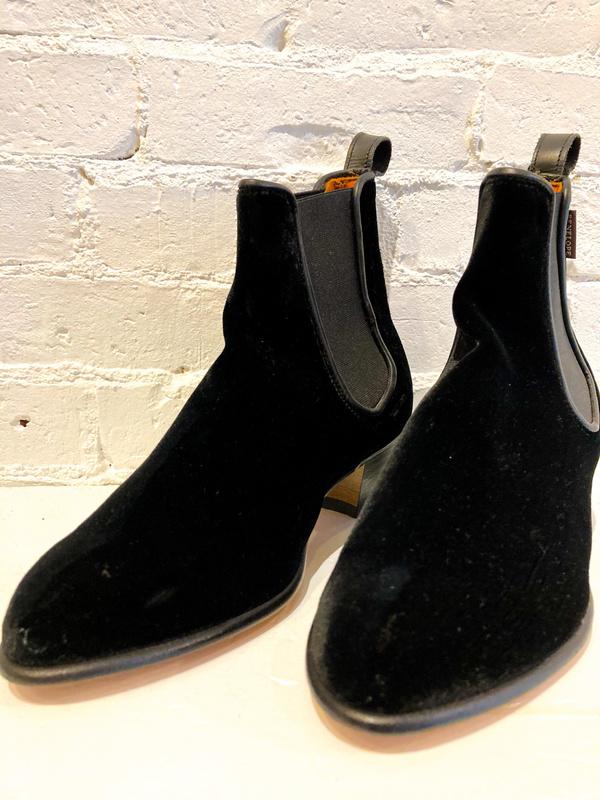 PENELOPE CHILVERS Velvet Cubana Boot - Black