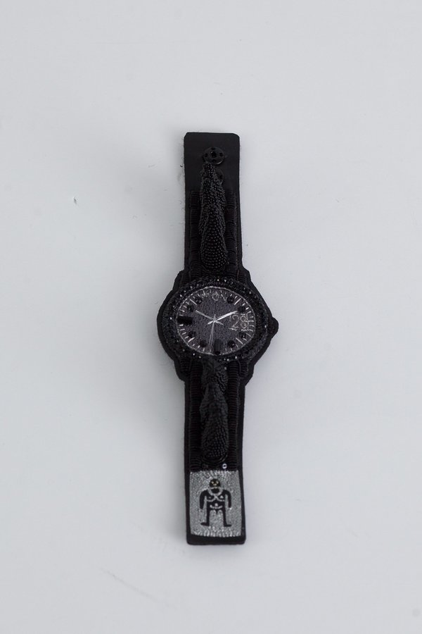 Walter Van Beirendonck Watch Spiky Bracelet - Black