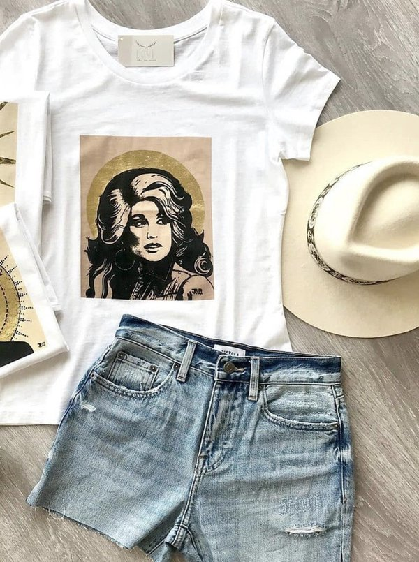 Proof of Concept Dolly Parton tee - white