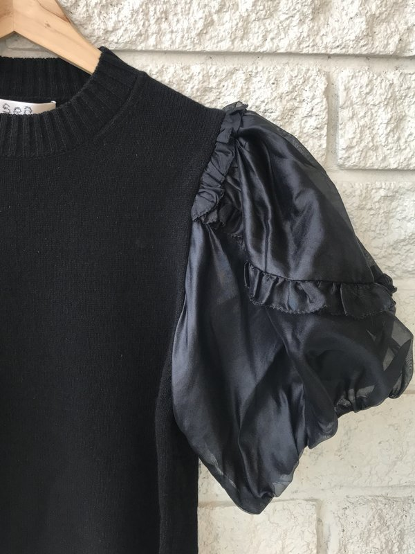 Sea NY Nuria Organza Sleeve Sweater