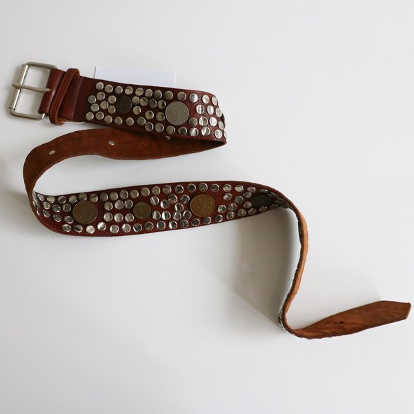 [pre-loved] Cynthia Rowley Studded Belt  - Brown
