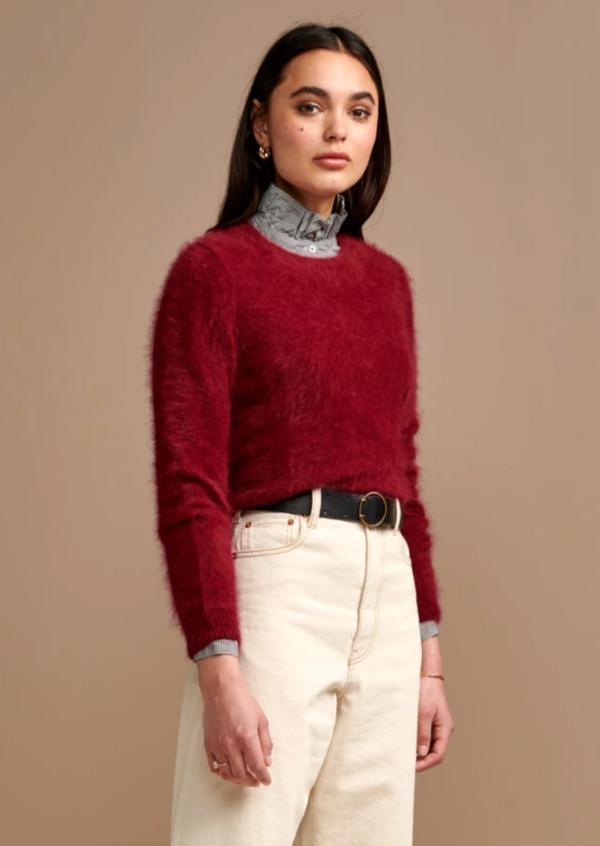 Bellerose Datti Angora Sweater Cerise on Garmentory