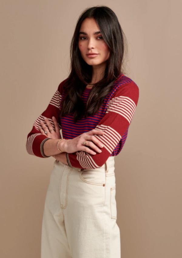 Bellerose Gops Sweater - Cherry Stripe
