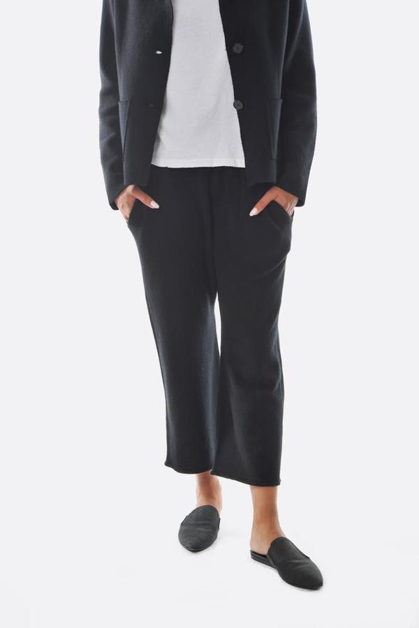 Oyuna Knitted Vela Trousers - Black