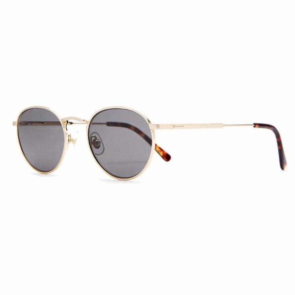 Unisex Crap Eyewear The Zen Patrol - Brushed Gold / Dark Tortoise / Polarized Grey