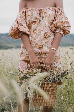 SPELL & THE GYPSY COLLECTIVE Anne Tunic Dress - Peach
